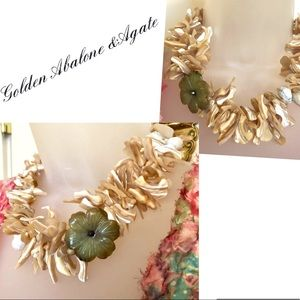 Abalone Necklace Golden Abalone Agate Briolette
